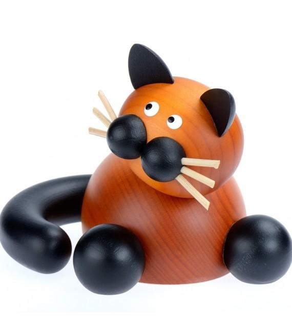 Decoration en bois, statuette chat