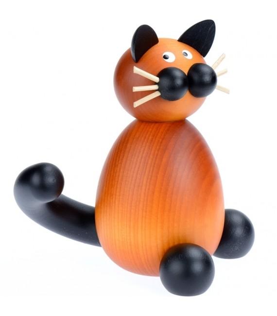 Achat statuette chat en bois