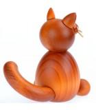 Achat figurine chat en bois roux