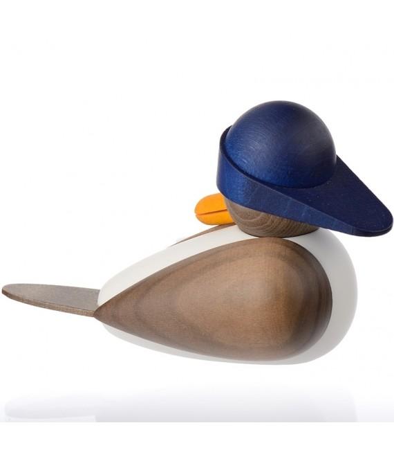 Figurines bois mouettes avec un bonnet bleu