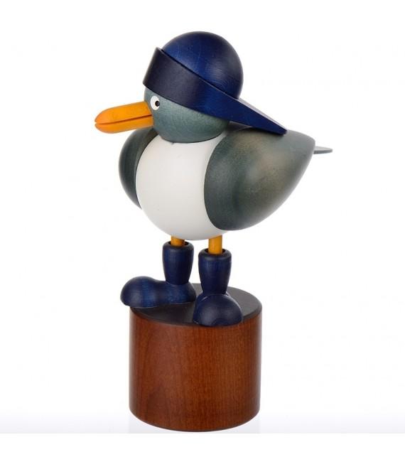 Petites mouette en bois avec bonnet bleu