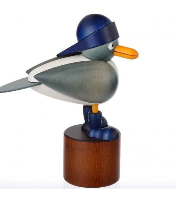 Mouettes en bois avec bonnet marin