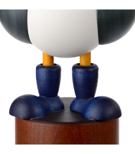 Mouettes en bois peint avec bonnets marins