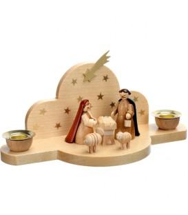 Mini-crèche de Noël en bois