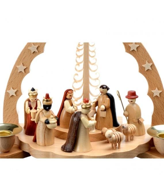 Acheter creche de Noel avec personnages en bois