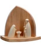 Petite crèche de Noël en bois contemporaine