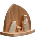 Petite crèche de Noël avec petit jesus