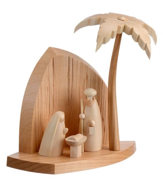 Crèche en bois inspiration orientale