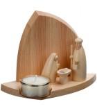 Petites crèches de Noël en bois avec bougies