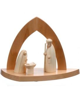 Crèche design en bois en forme d'arche