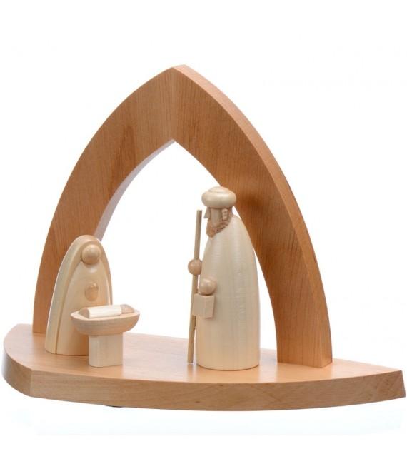 Creches de noel en bois en forme d'arche