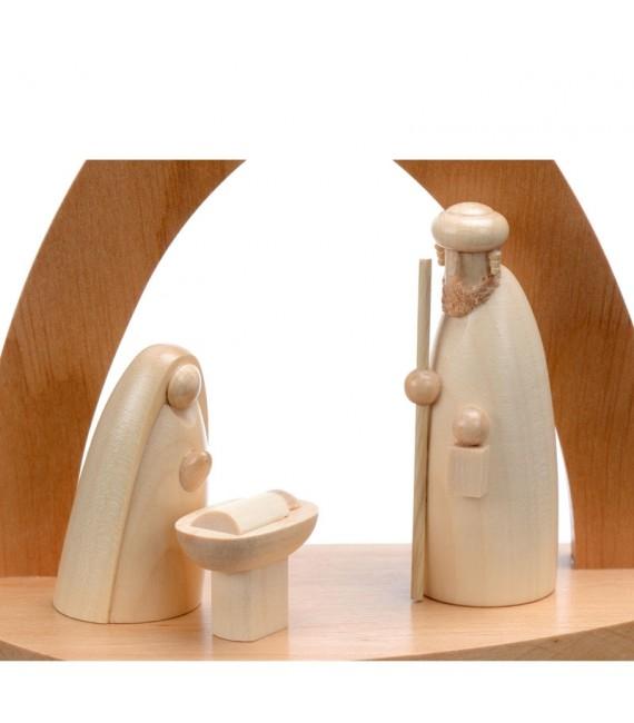 Achat petites crèches de noel avec figurines en bois