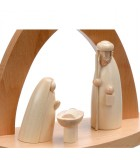 Figurines en bois de la crèche de noel, jésus, marie et joseph