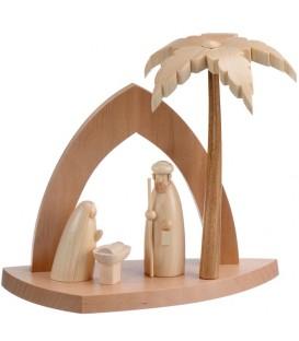 Crèche design avec palmier
