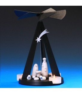 Petite pyramide couleur noire au design contemporain