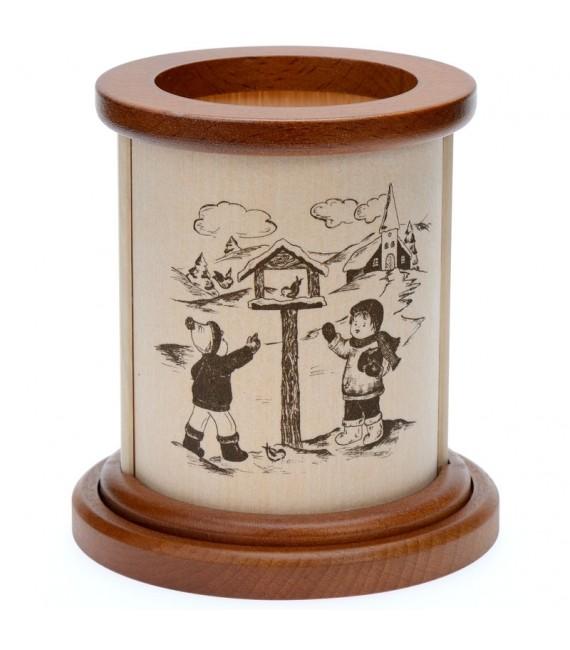 Photophore en bois jeux d'enfants