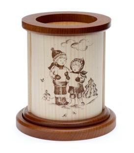 Photophore en bois choeurs d'enfants