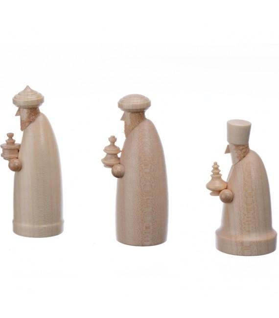 Personnages crèche de Noël, les trois rois mages