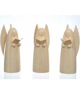 3 anges en bois pour crèche de Noël, 12 cm