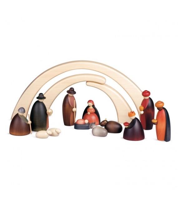 Crèche de Noël complète avec 12 personnages 12 cm