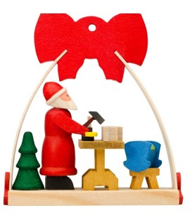 Déco Noël enfant, noeud rouge, fabrication de jouets