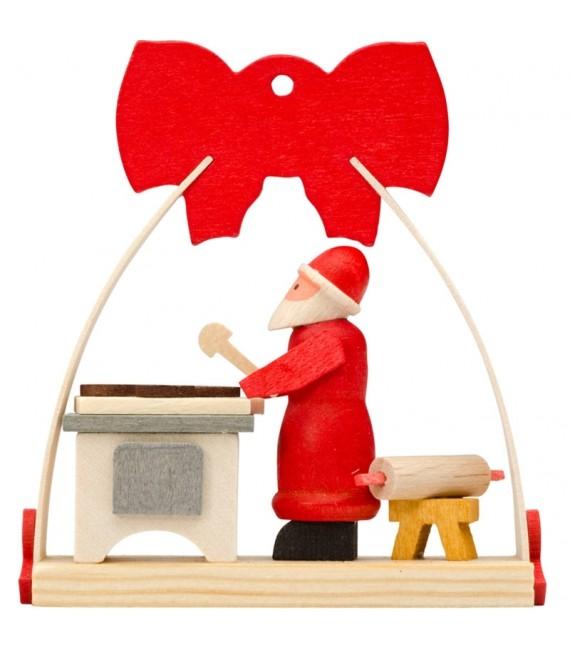 Déco Noël enfant, noeud rouge, préparation patisseries