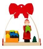 Déco Noël enfant, noeud rouge, fabrication cadeaux