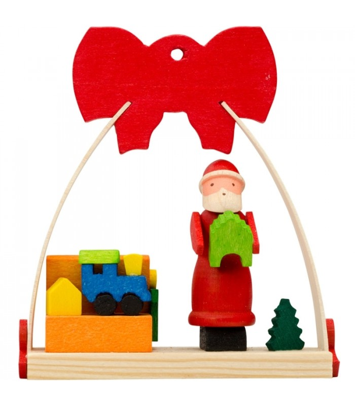 deco noel enfant suspension pour sapin de noel avec joli noeud rouge fabrication cadeaux. Black Bedroom Furniture Sets. Home Design Ideas