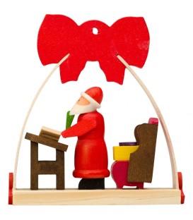 Déco Noël enfant, noeud rouge, lettres du père Noel
