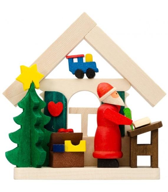 Déco sapin de Noel, père Noël qui répond au courrier