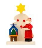 Déco sapin de Noel, père Noel et manège à bougie