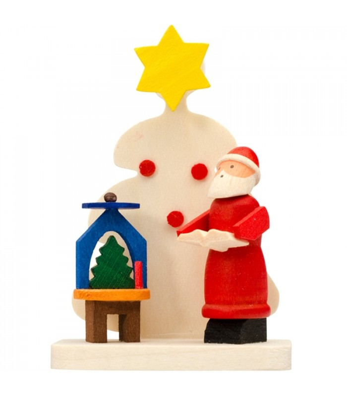 Deco sapin de noel p re noel et man ge bougie for Pere noel decoration interieur