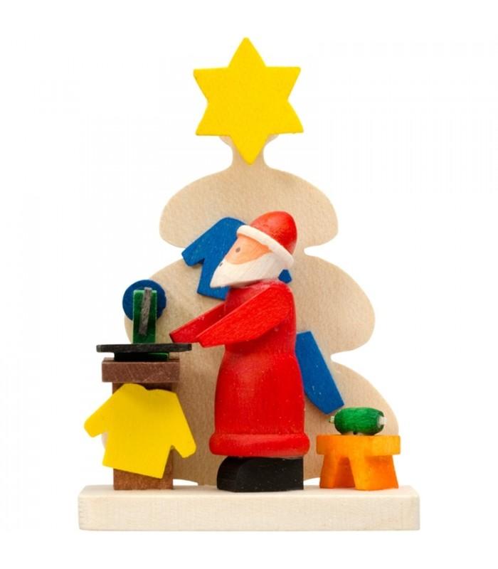 Deco sapin de noel figurine atelier du p re noel - Pere noel sapin ...