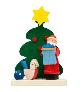 Déco sapin de Noel, père Noel et cheval de à bascule