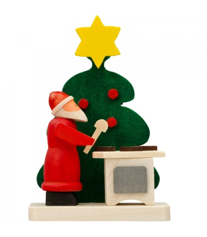 d co sapin de noel figurine p re noel gateaux. Black Bedroom Furniture Sets. Home Design Ideas