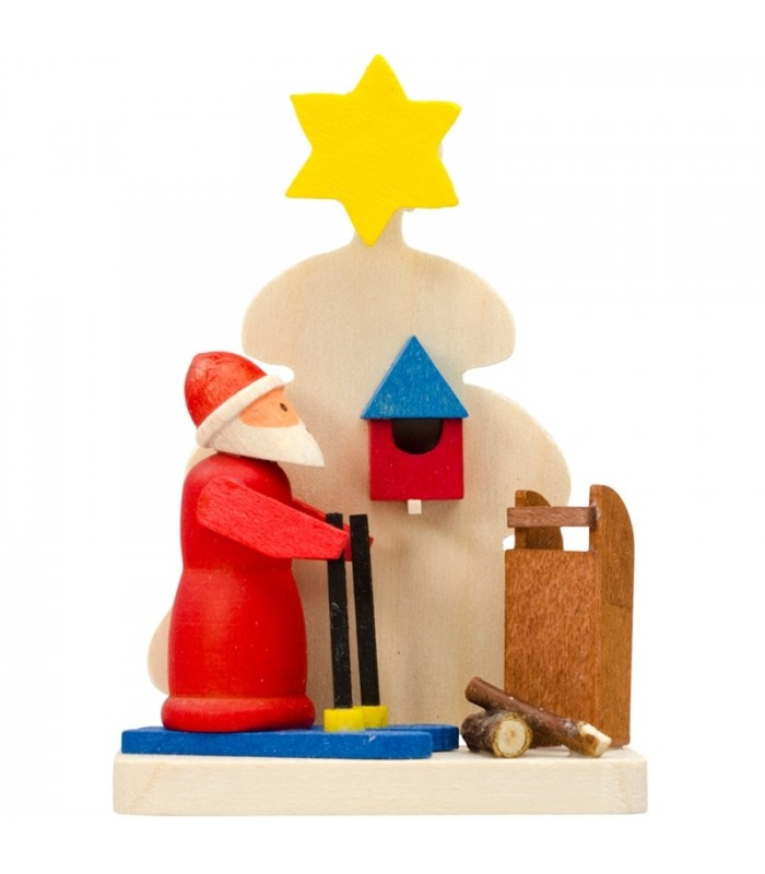 D co sapin de no l figurine p re noel ski for Pere noel decoration interieur