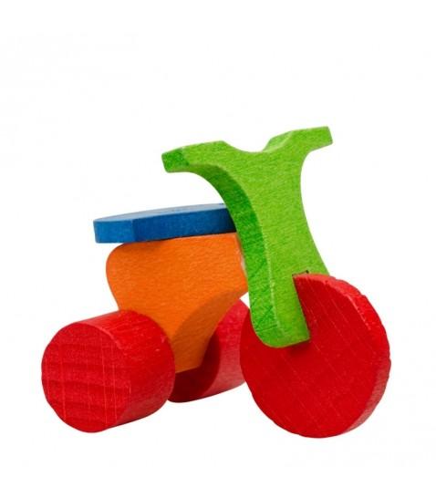 D co no l enfant tricycle en bois peint - Decoration noel enfant ...