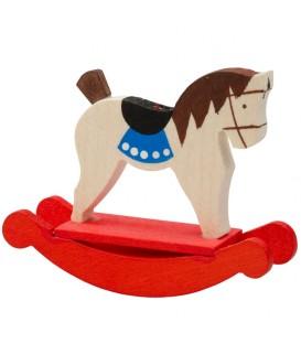 Déco Noël enfant, cheval de bois