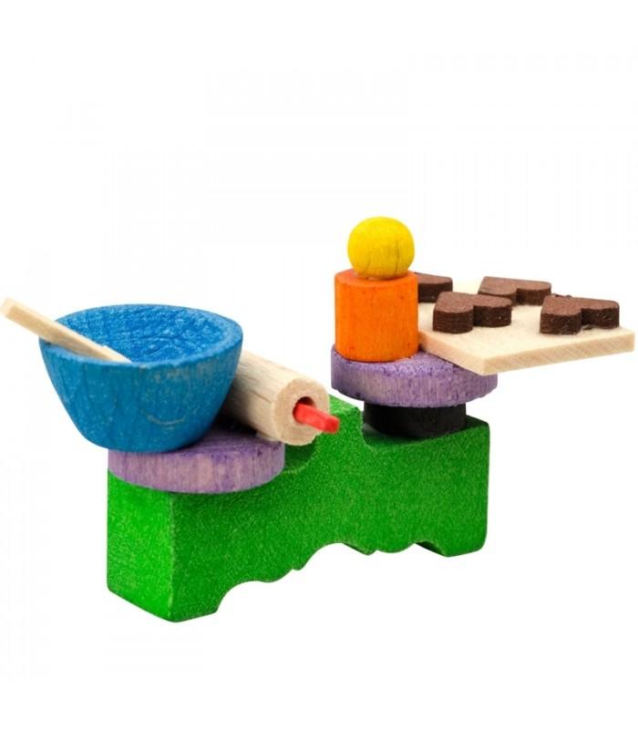 d co no l enfant dinette en bois peint. Black Bedroom Furniture Sets. Home Design Ideas