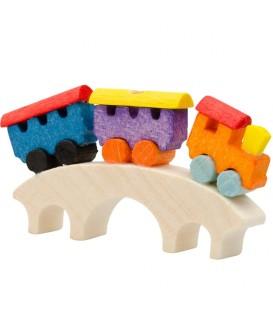 Déco Noël enfant, petit train sur un pont