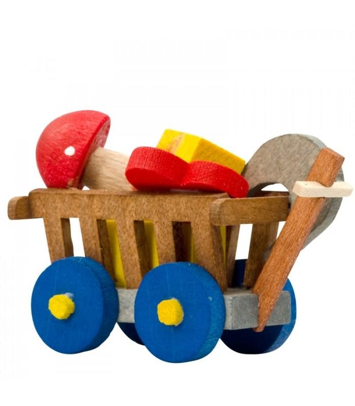 D co no l enfant chariot jouet en bois peint - Decoration noel enfant ...