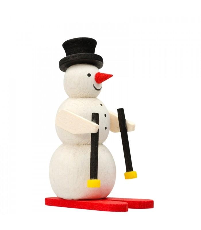 Déco Noël enfant - Bonhomme de neige en bois peint