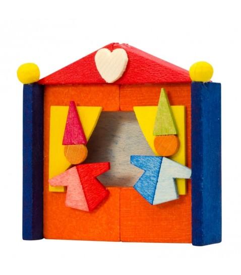 d co no l enfant th atre de clowns en bois peint. Black Bedroom Furniture Sets. Home Design Ideas