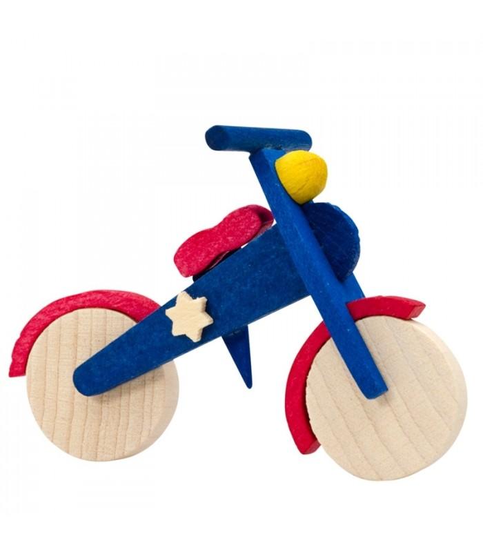 D co no l enfant v lo en bois peint - Decoration noel enfant ...