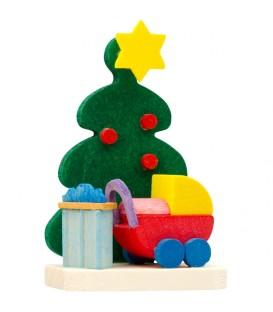 Décoration de sapin de Noël, poussette
