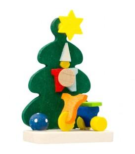 Décoration de sapin de Noël, tricycle et ballon