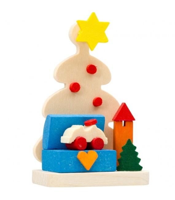 Décoration de sapin de Noël, malle aux jouets