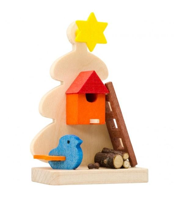 Décoration de sapin de Noël, mangeoire à oiseaux