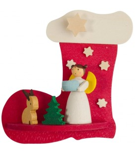 Botte père Noel, ange et lapin