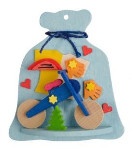 Décoration de sapin de Noel, sac à jouet